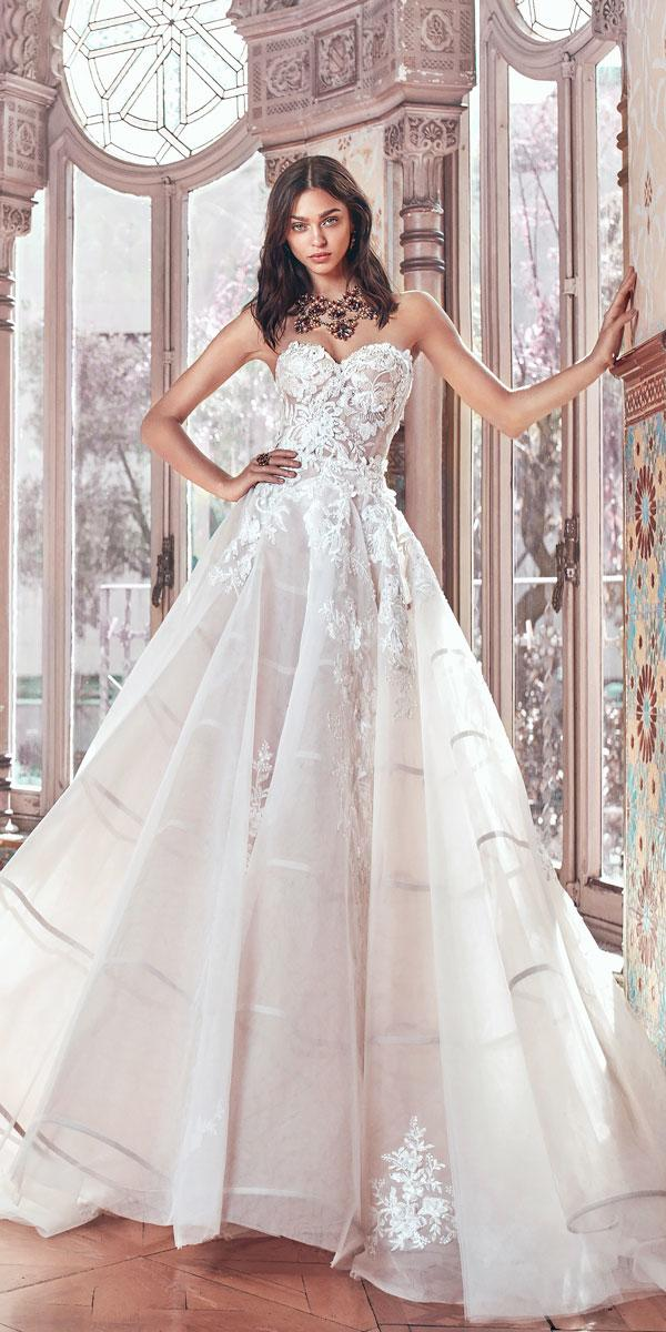 lace ball gown strapless sweetheart wedding dresses galia lahav