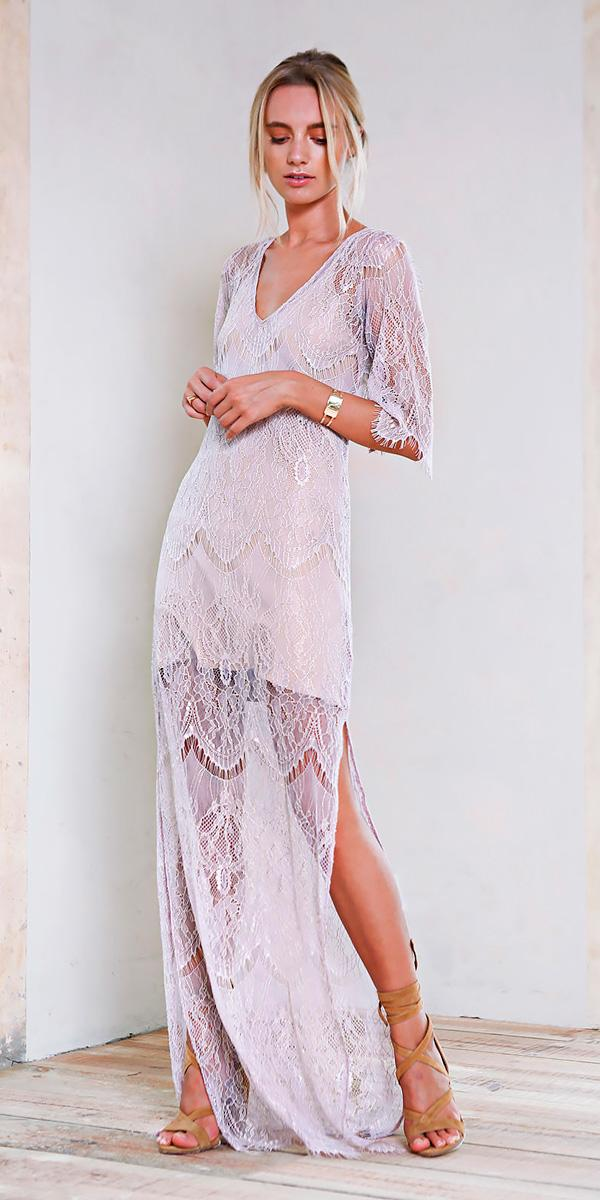 lace floor length with sleeves beach wedding guest dresses grace loves lace