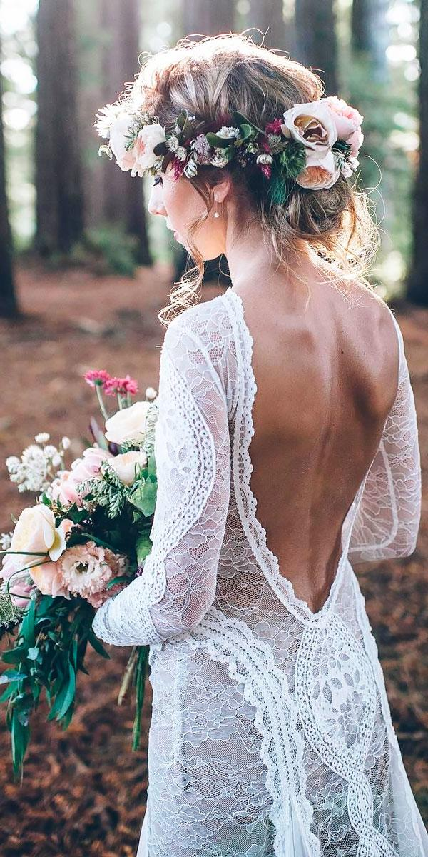 lace low open back with long sleeves bohemian wedding dresses grace loves lace