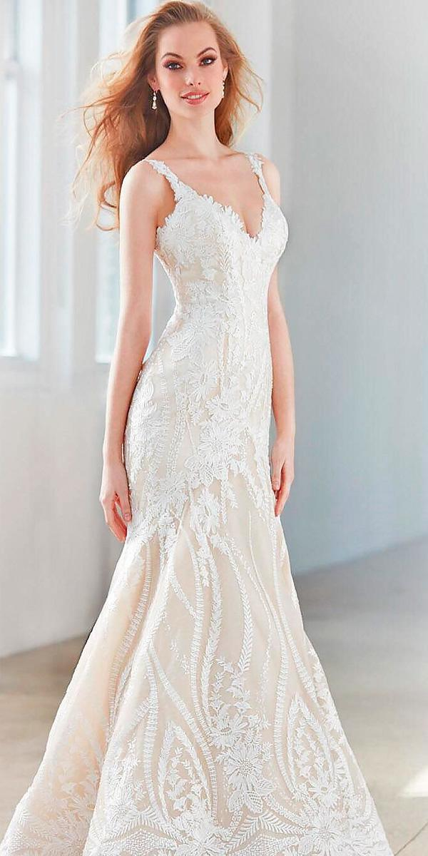 lace mermaid sweetheart wedding dresses with straps allure bridals