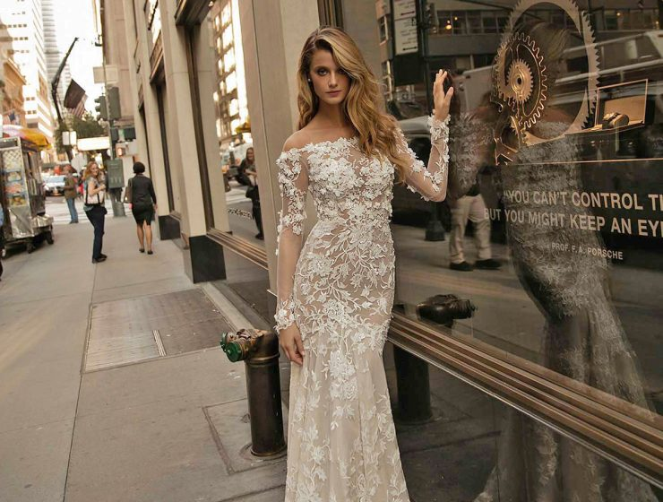 lace mermaid with train berta bridal wedding dresses main