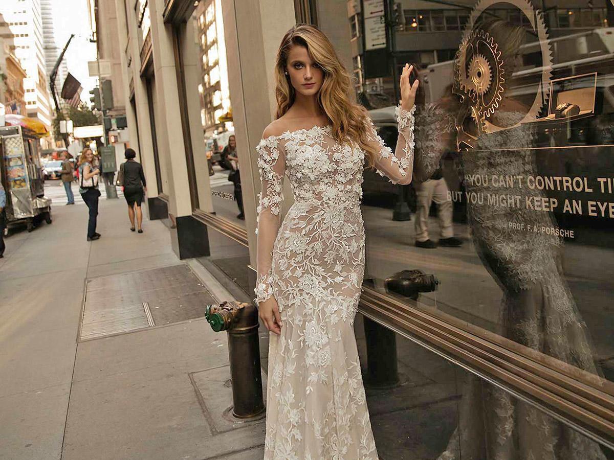 lace mermaid with train berta bridal wedding dresses main