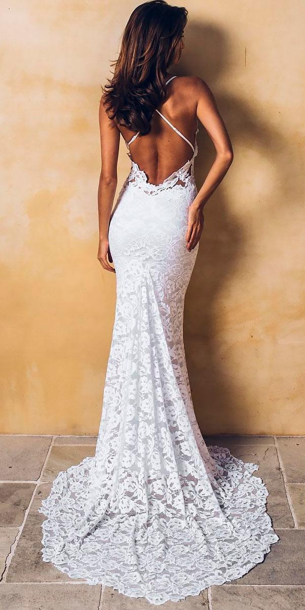 boho lace mermaid x cross low open back wedding dresses grace loves lace