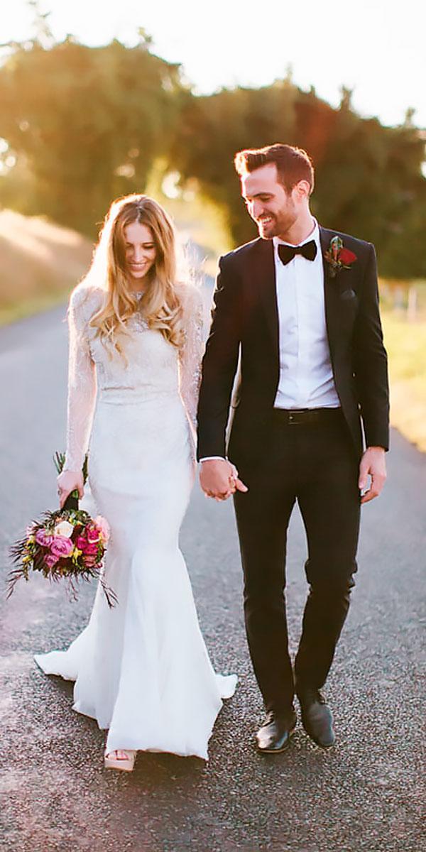 lace vintage elegant wedding dresses sheath with long sleeve bo luca