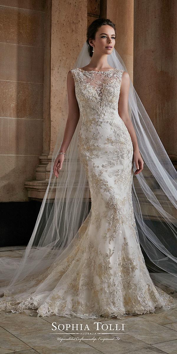 mermaid color with train sophia tolli wedding dresses