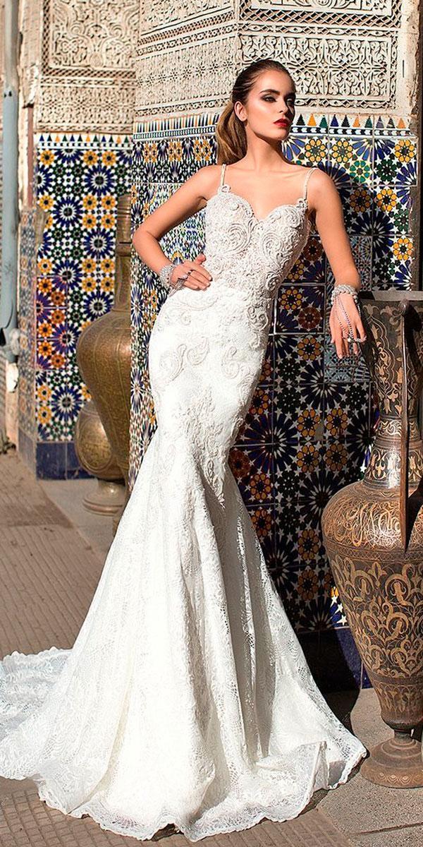 mermaid elegant wedding dresses lace strapless sweetheart neckline lorenzo rossi