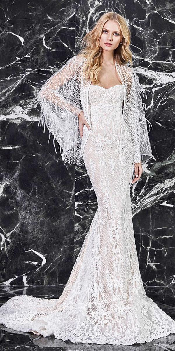 mermaid lace strapless sweetheart wedding dresses 2018 victoria kyriakides