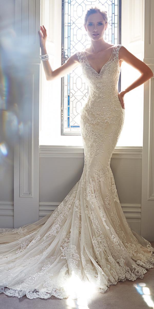 mermaid queen anne with train sophia tolli wedding dresses