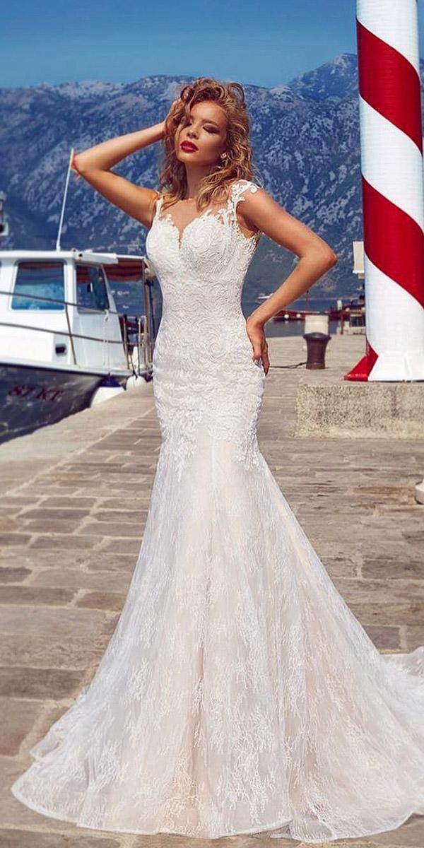mermaid semi sweetheart lace armonia wedding dresses