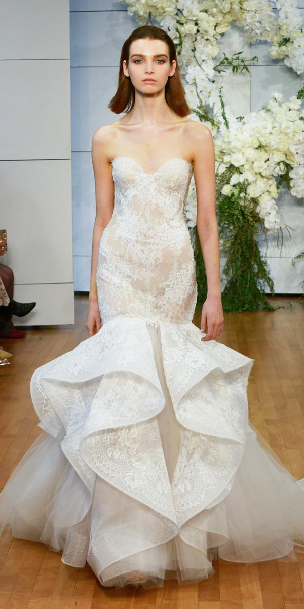 mermaid strapless sweetheart wedding dresses monique lhuillier