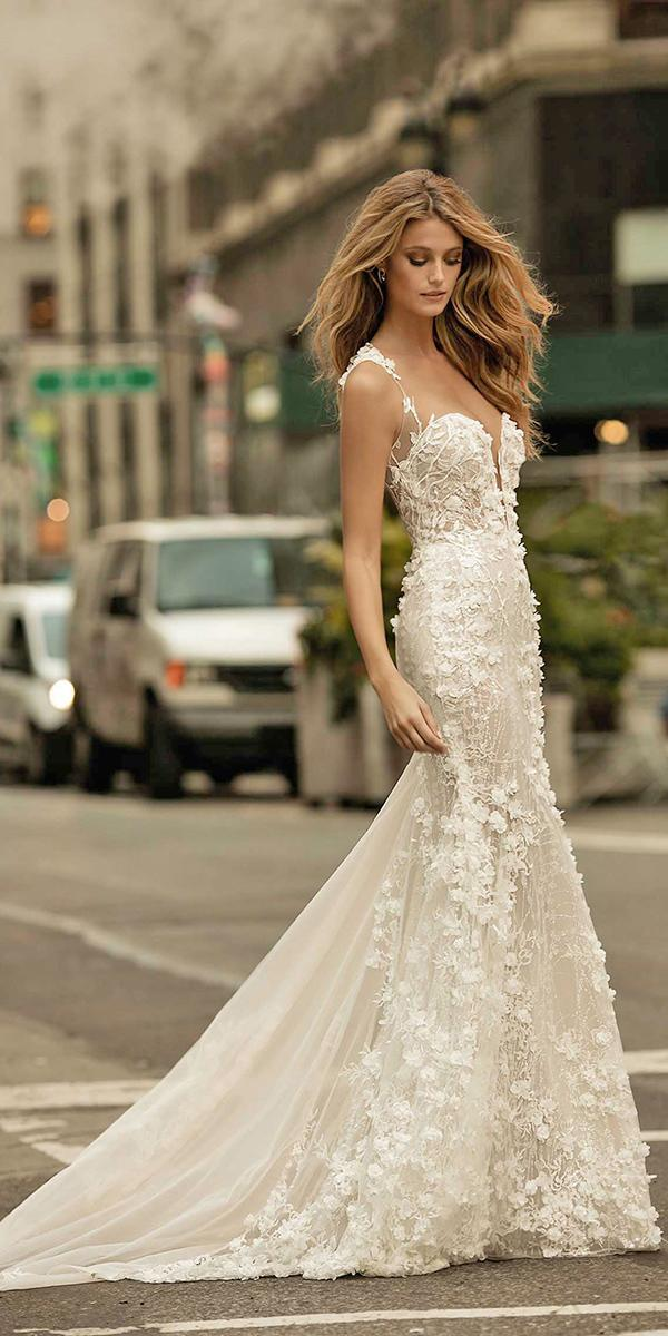 mermaid sweetheart with train berta bridal wedding dresses
