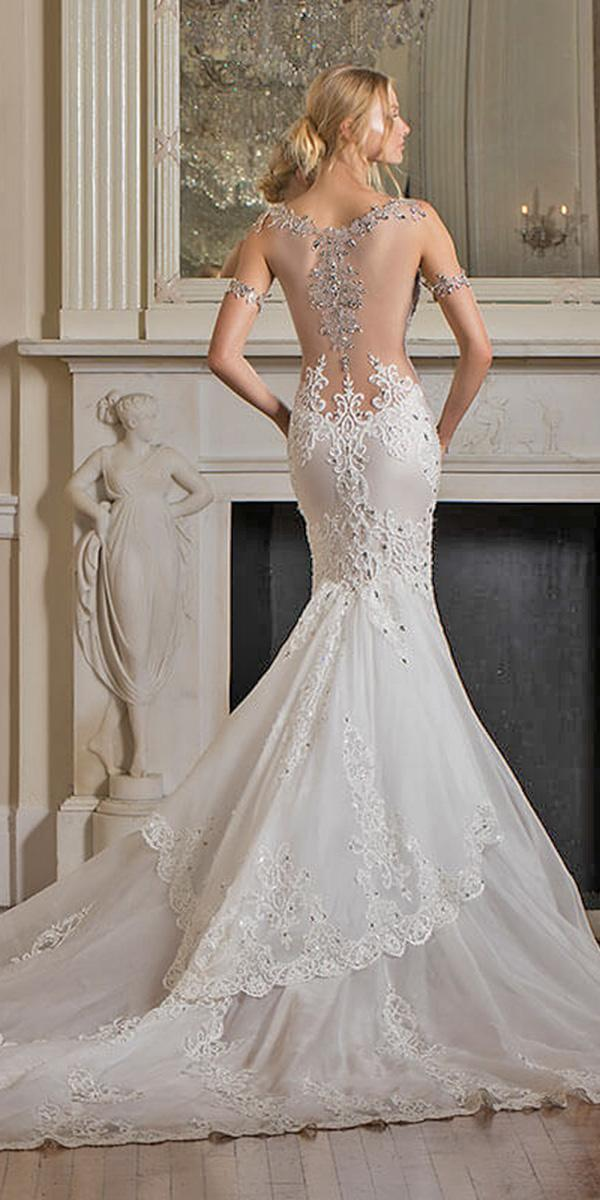 mermaid with lowback and embellishments and train pnina tornai wedding