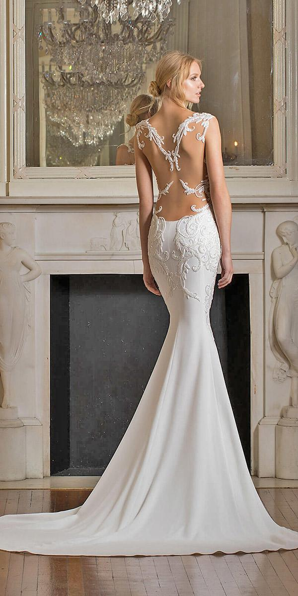 mermaid with lowback and tattoo effect pnina tornai wedding dresses