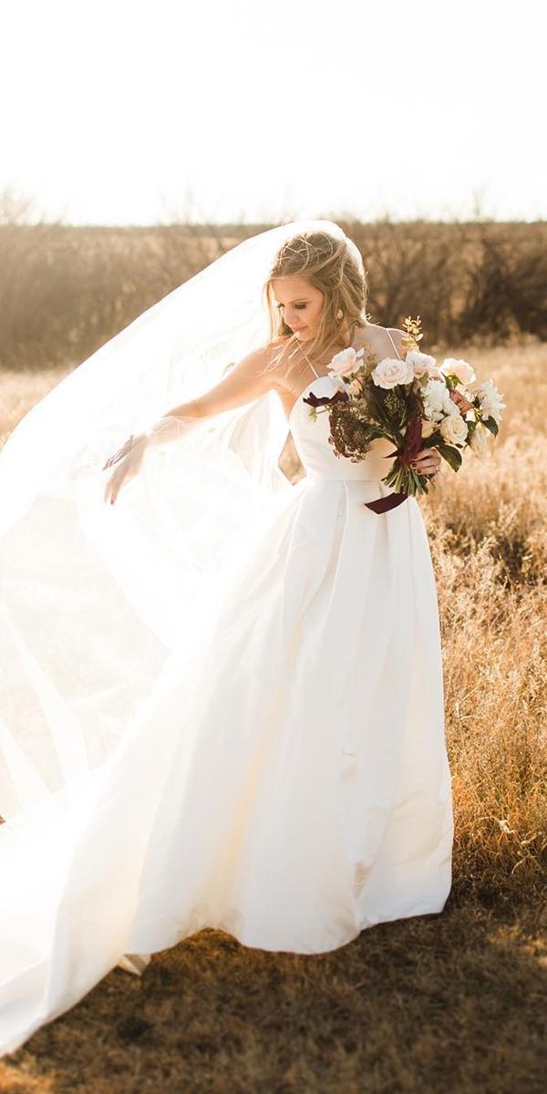 modest wedding dresses a line- straps simple holly gannett photography