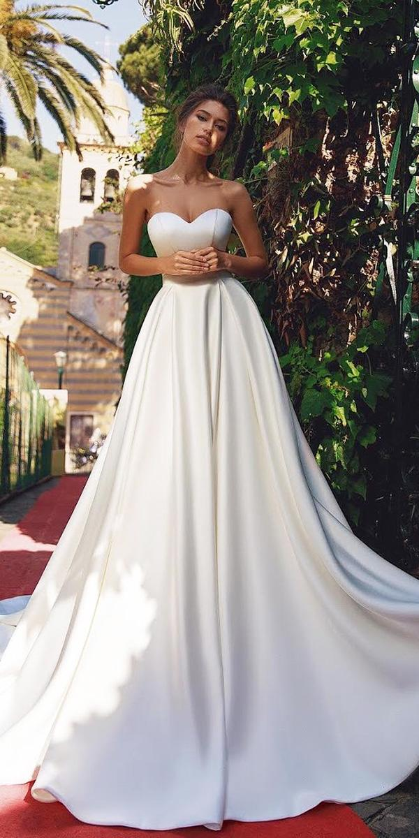 modest wedding dresses a line sweetheart modest viero bridal
