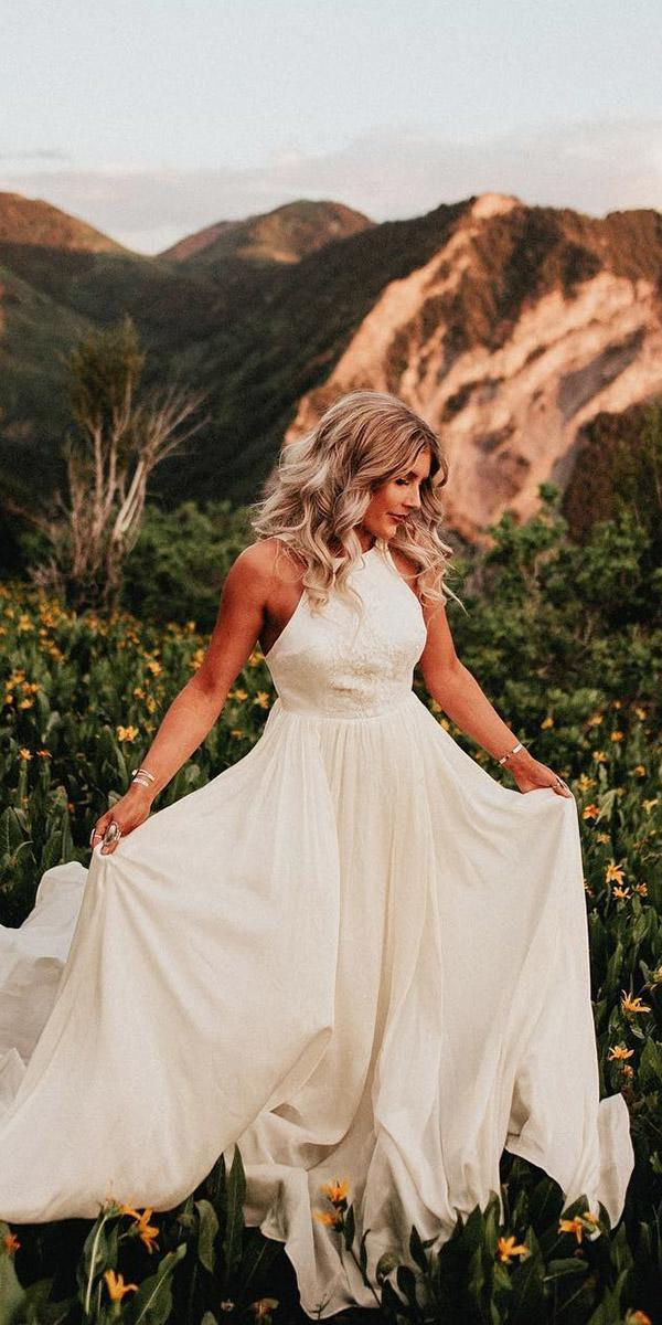 modest wedding dresses halter neckline modest chantel lauren designs
