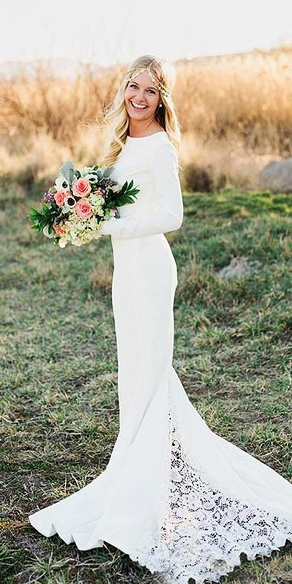 modest wedding dresses memaid with long sleeves simple janay marie designs