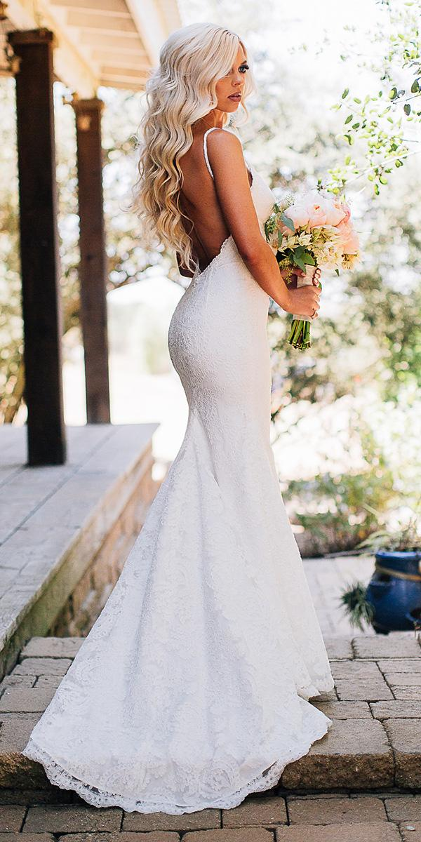 modest wedding dresses mermaid with straps backless lace katie may