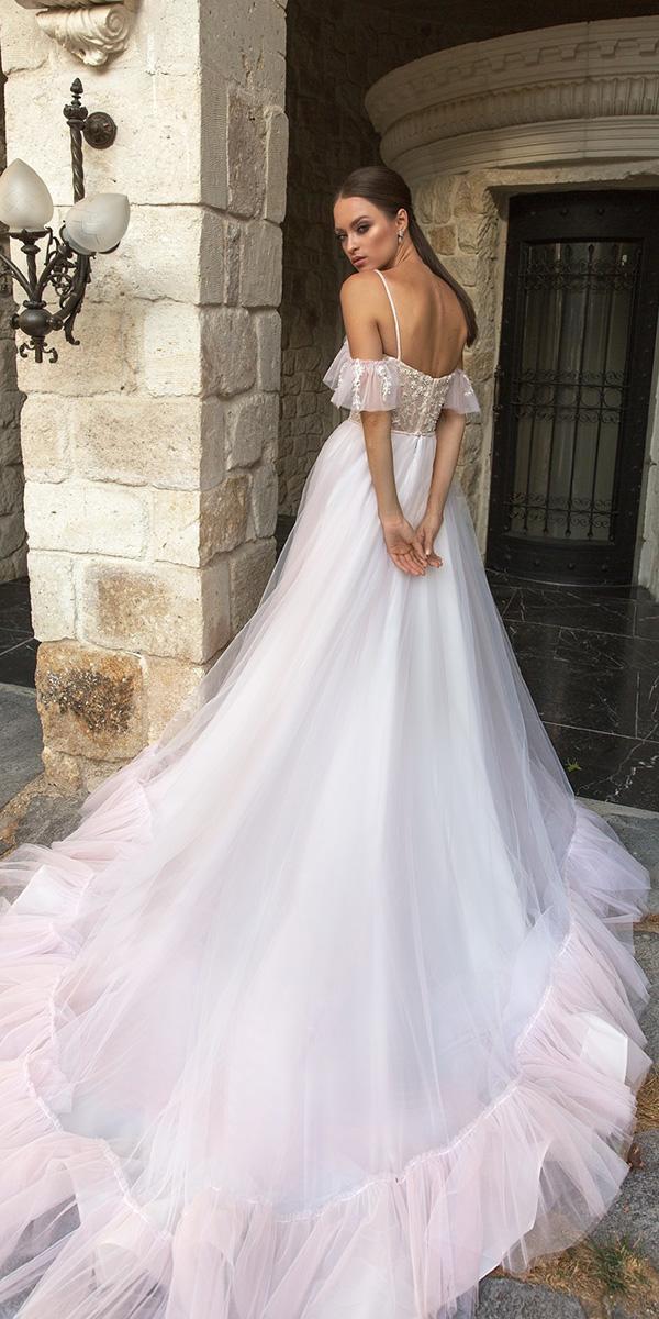 modest wedding dresses off the shoulder with straps romantic blush eva lendel