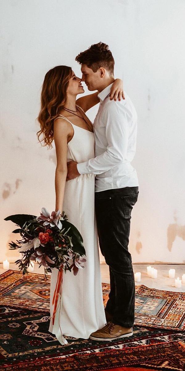 modest wedding dresses sheath with spaghetti straps simple elegalorelei feinekleider