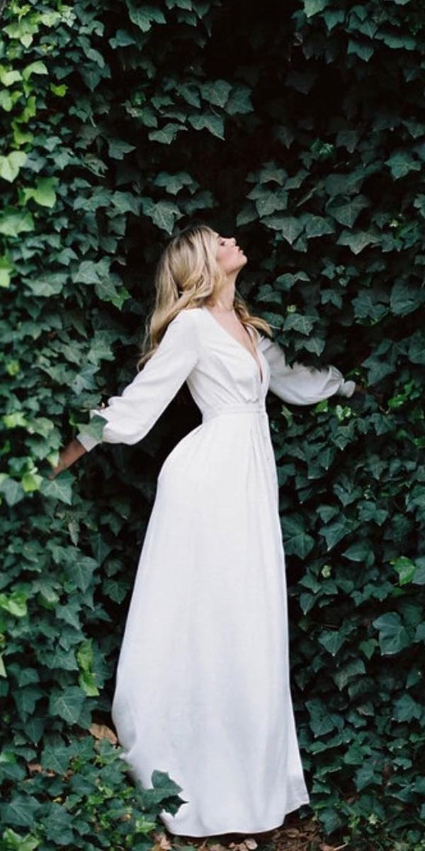 modest wedding dresses simple with long sleeves alexandra grecco