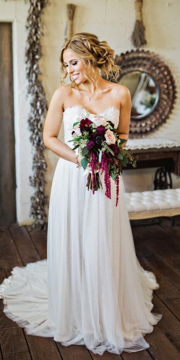 modest wedding dresses a line sweetheart strapless elegant amilia photography