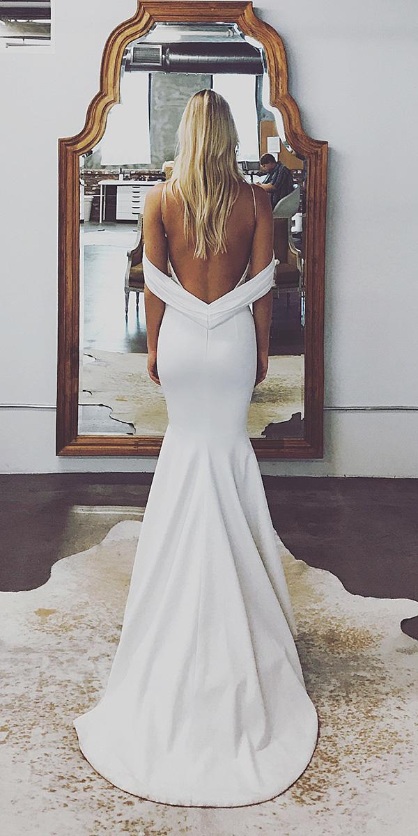 modest wedding dresses trumpet with spaghetti straps beach sexy katie may