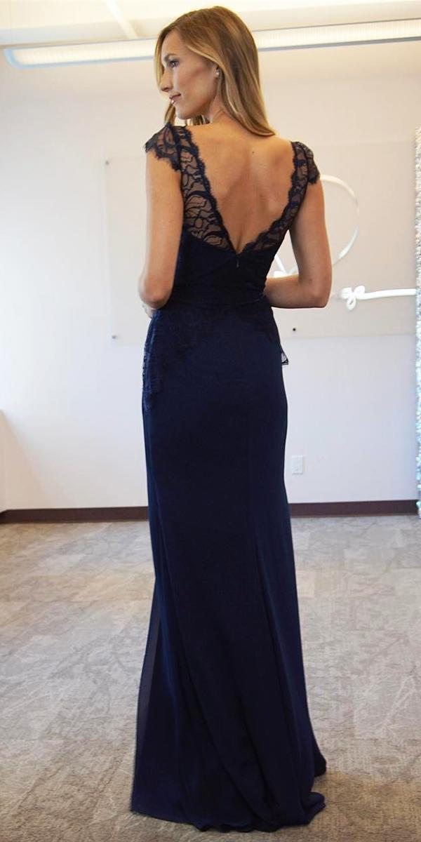 open back lace navy bridesmaid dresses hayley paige occasions