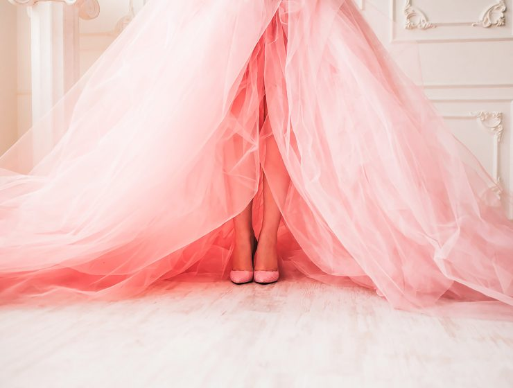 pink wedding dresses featured