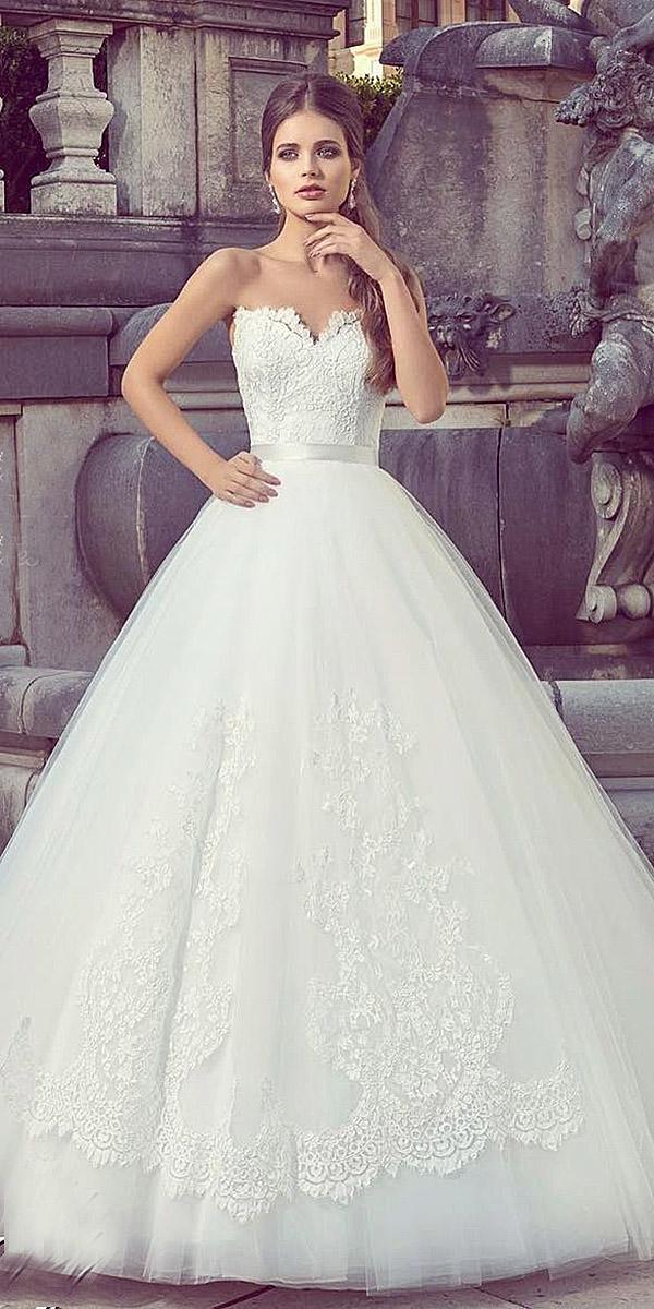 princess silhouette sweetheart with belt armonia wedding dresses