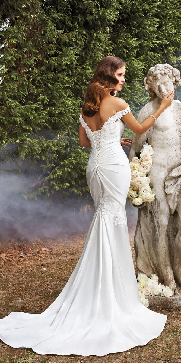satin mermaid wedding dresses with sweetheart neckline and off the shoulder straps sophia tolli magnolia