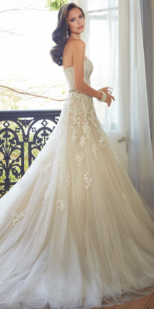 semi sweetheart aline with train sophia tolli wedding dresses