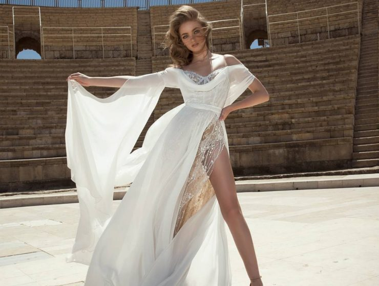sexy a line off shoulders dany mizrachi wedding dresses