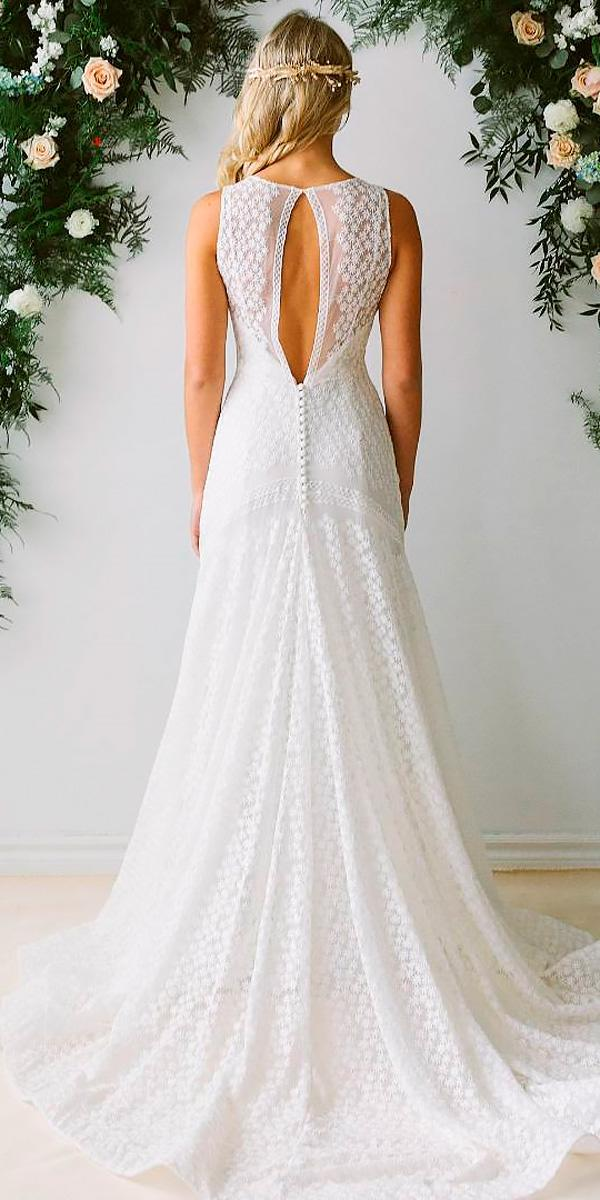 simple a line open back modest wedding dresses abigail of gardenia