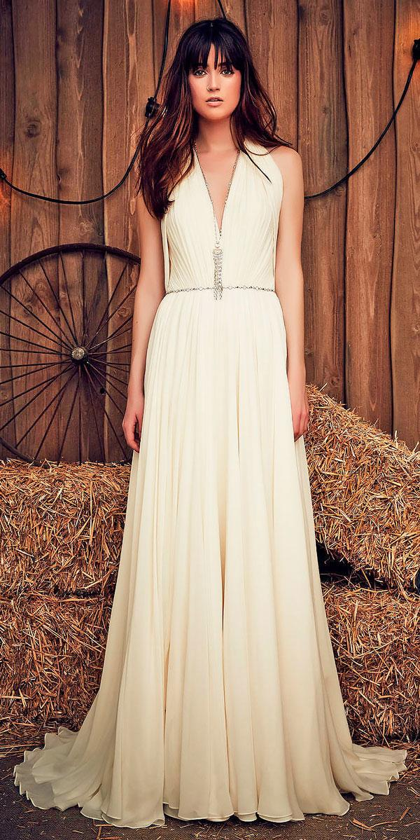 simple v neckline rustic wedding dresses jeny pacham