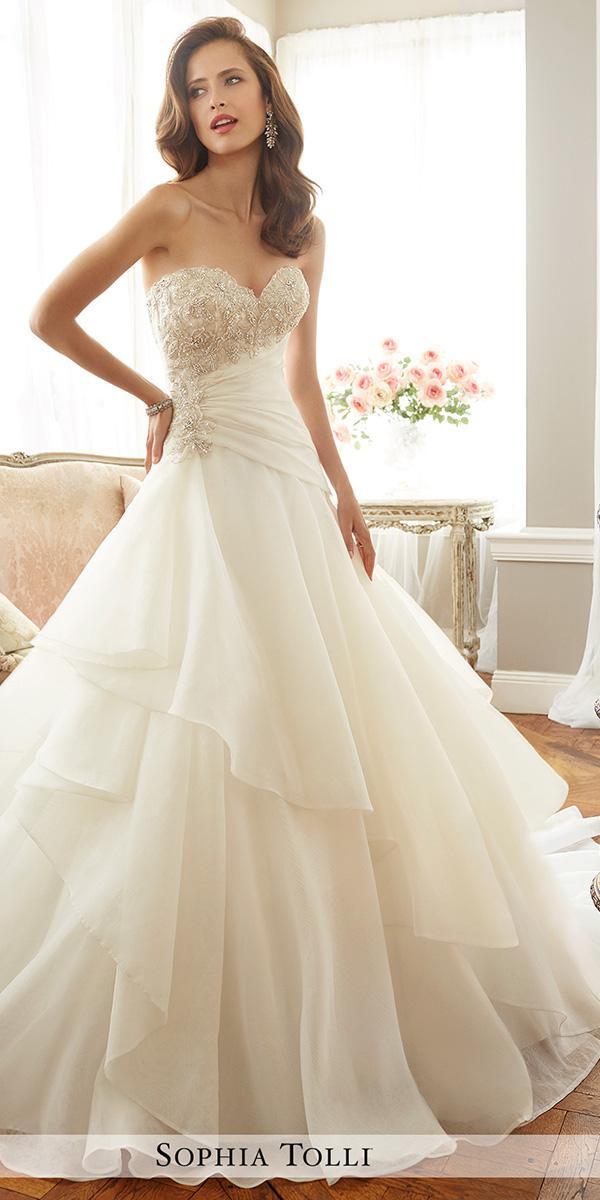 sweetheart aline with asymmetrical skirt sophia tolli wedding dresses
