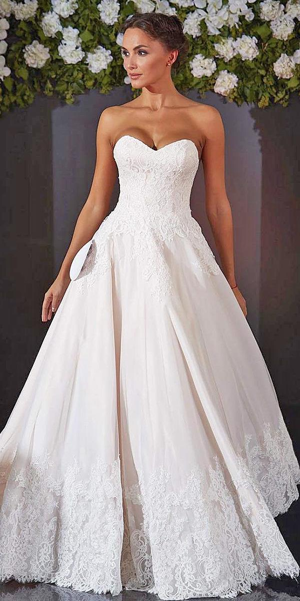 sweetheart wedding dresses simple ball gown floral embellishment ariamo bridal