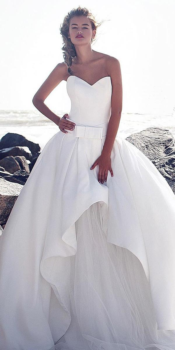 sweetheart wedding dresses simple ball gown with tulle skirt ariamo bridal