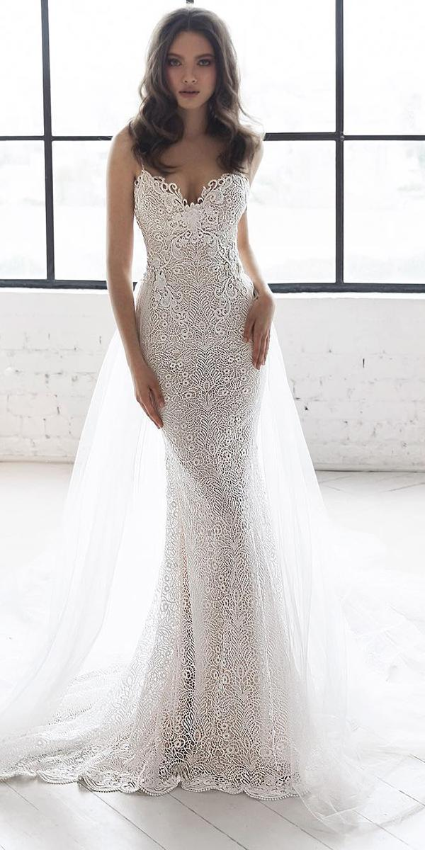 sweetheart wedding dresses with straps full delicate lace julie vino bridal