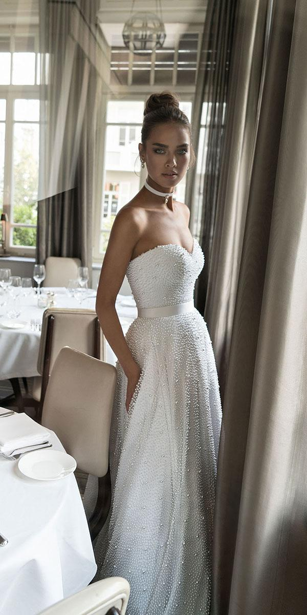 ultra feminine aline sweetheart strapless elihav sasson wedding dresses