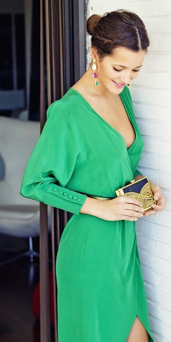 v neckline short beach wedding guest dresses with sleeves dolores promesas
