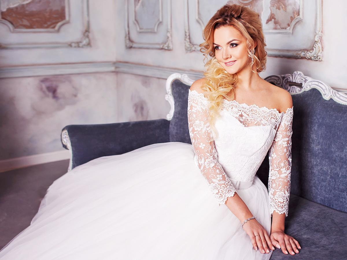 wedding dresses with lace sleeves featured