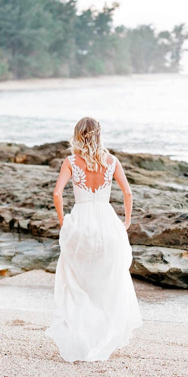 a line backless open back destination beach wedding dresses chantel lauren