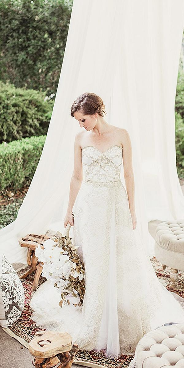 a line strapless sweetheart country wedding dresses shaun menary