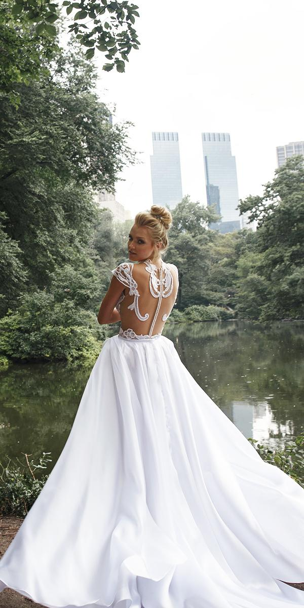 aline with tatto effect lior charchy wedding dresses