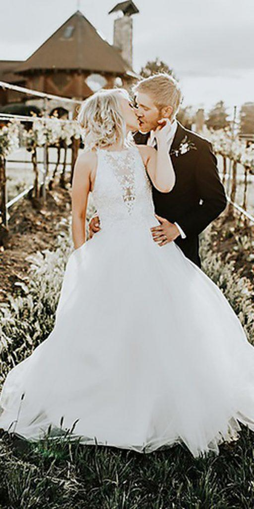 ball gown rustic bateau illusion neck country wedding dresses alex lasota