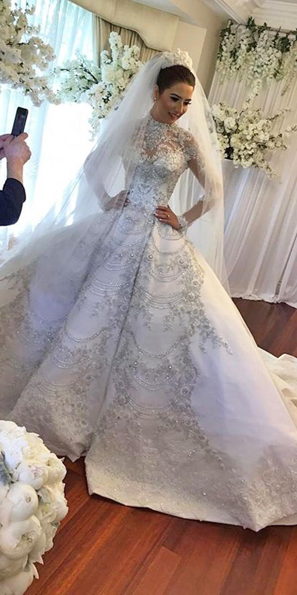 ball gown wedding dresses lace high neckline illusion sweetheart neck long sleeves annette of melbourne