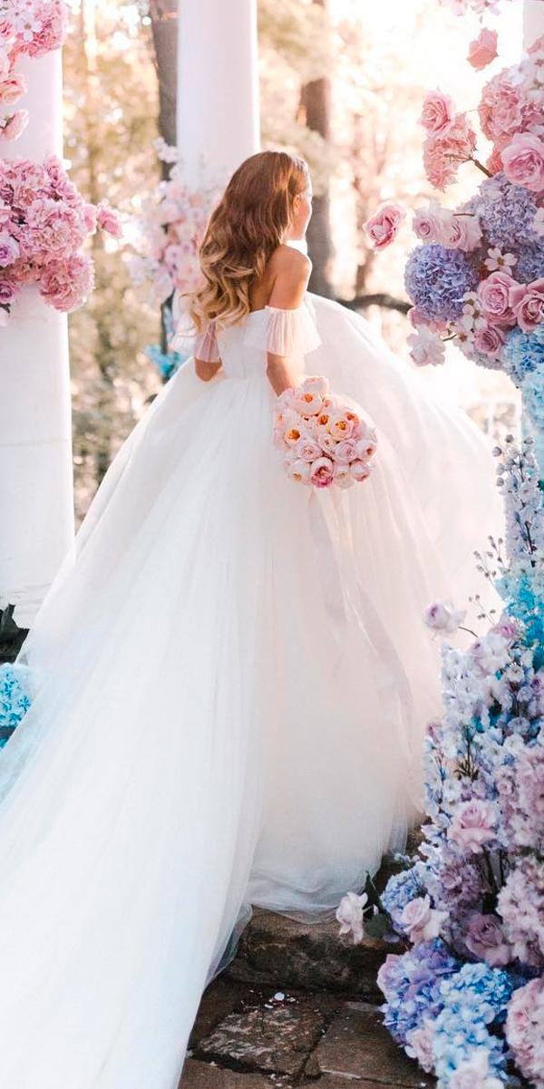 ball gown wedding dresses off the shoulder beautiful with train zhenya swan