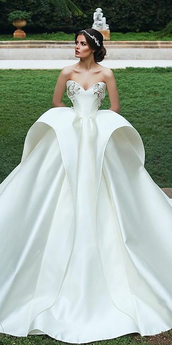 ball gown wedding dresses strapless sweetheart neck modern said mhamad