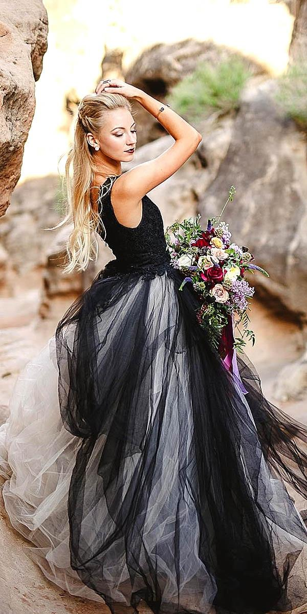 black wedding dresses a line gown square alyssa ence photography